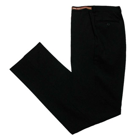 Men's Jack Victor Riviera Traveler Wool Blend Dress Pants Black - Richard David for Men