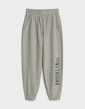 Sweatpants with print - Pants - Woman | Bershka