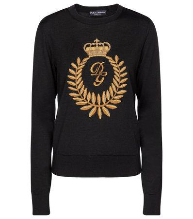 Dolce & Gabbana - Wool-blend intarsia sweater | Mytheresa
