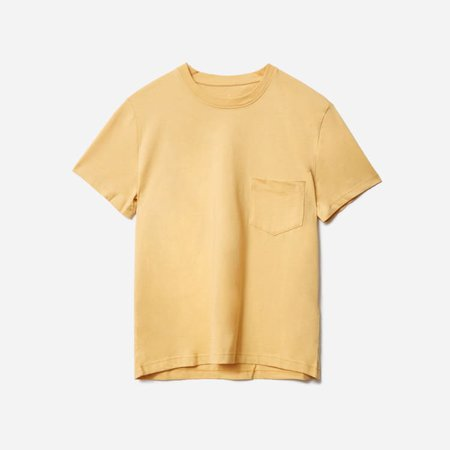 Women's Organic Cotton Box-Cut Pocket Tee | Everlane yellow