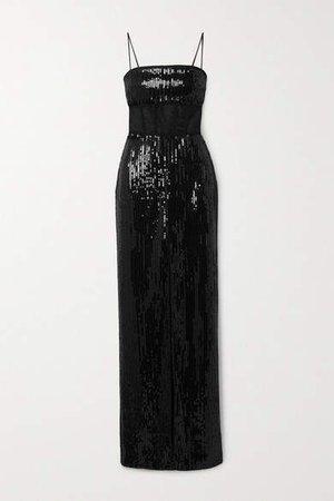 Embellished Tulle Gown - Black
