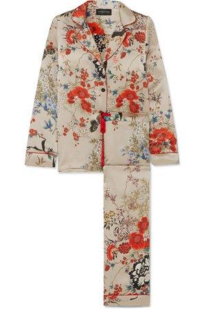 MENG | Printed silk-satin pajama set | NET-A-PORTER.COM