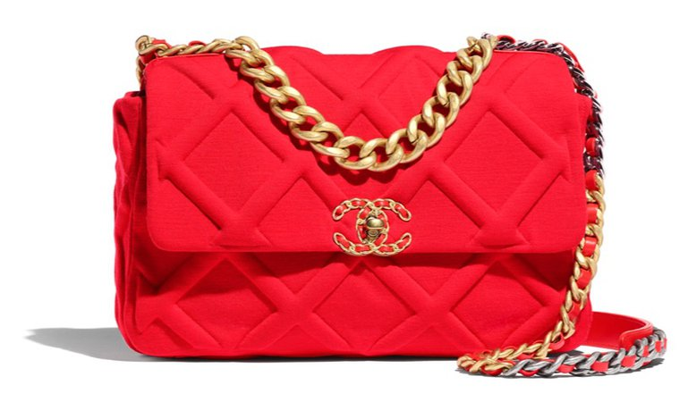 red orange Chanel purse