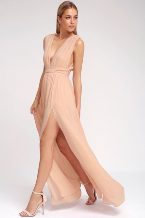Blush Gown - Maxi Dress - Sleeveless Maxi Dress - $84.00 - Lulus