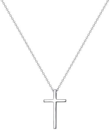 Tiny Cross Pendant Necklace