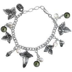 Alchemy Gothic Poison Ivy & Skulls Bracelet