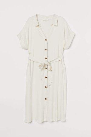MAMA Shirt Dress - White