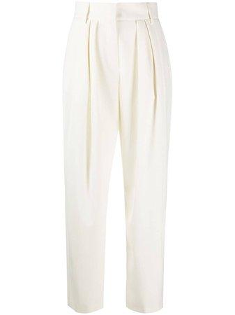 MSGM high-waisted wide-leg Trousers - Farfetch