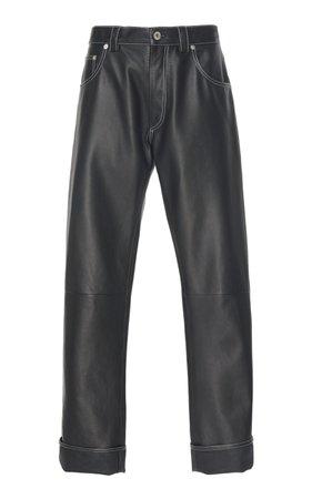 Leather Straight-Leg Pants by Loewe | Moda Operandi