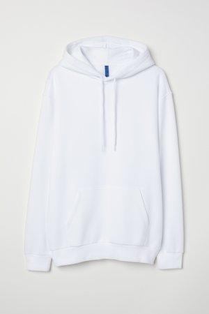 Hoodie - White - Men | H&M US