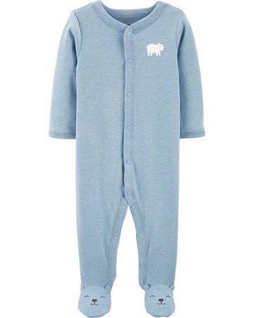 Baby Boy Bear Zip-Up Sleep & Play   Carters.com