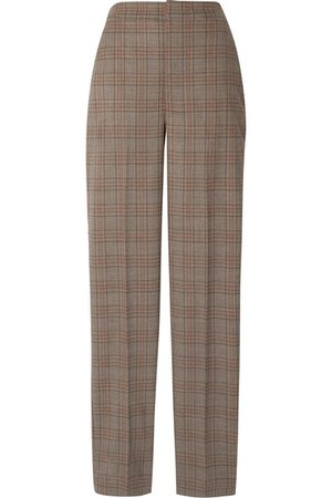 Tibi | Sebastian checked woven straight-leg pants | NET-A-PORTER.COM