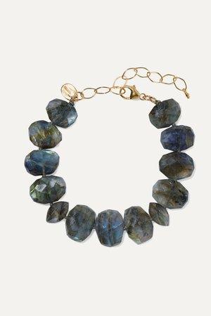 Gold Gold-plated labradorite bracelet | Chan Luu | NET-A-PORTER