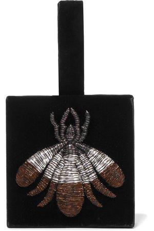 Sanayi 313 | Ragno embroidered velvet pouch | NET-A-PORTER.COM