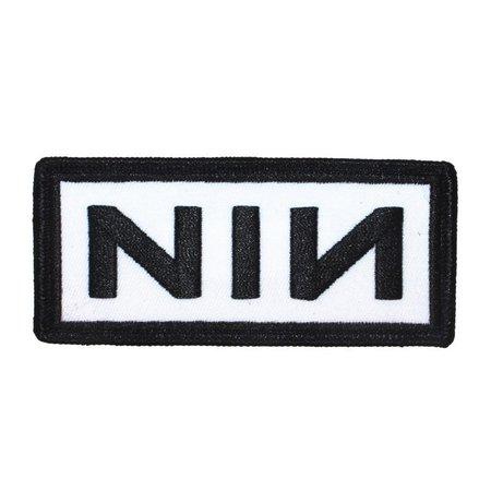 Nine Inch Nails NIN Black Border Band Logo Patch Rock Music | Etsy