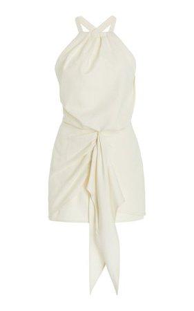Adriena Tie-Accented Cotton-Blend Mini Dress By Alexis | Moda Operandi