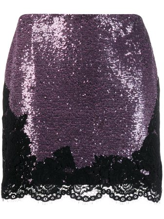 Philosophy Di Lorenzo Serafini Sequin Embellished Mini Skirt - Farfetch