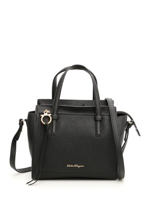 Salvatore Ferragamo Grain Calfskin Amy Mini Bag