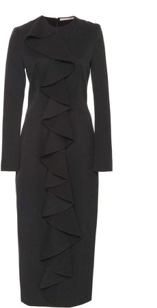 Emilia Wickstead Renee Cascade Silk-Blend Dress