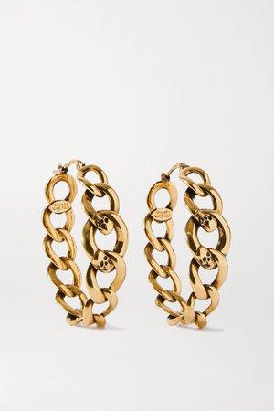 Gold Gold-tone hoop earrings | Alexander McQueen | NET-A-PORTER