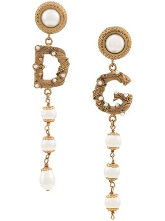 Dolce & Gabbana Logo Earrings | Farfetch.com