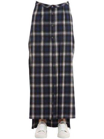 Plaid Flannel Long Skirt