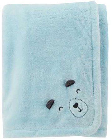 Baby Boy Bear Plush Blanket | Carters.com