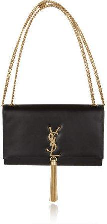 Monogramme Leather Shoulder Bag - Black