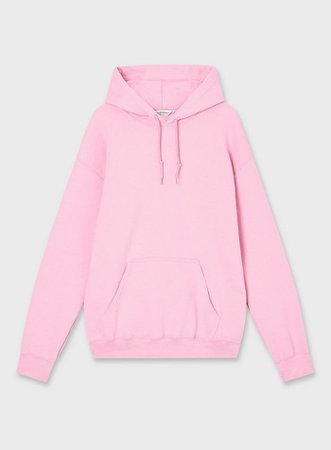 Pink Long Sleeve Oversized Hoodie | Miss Selfridge