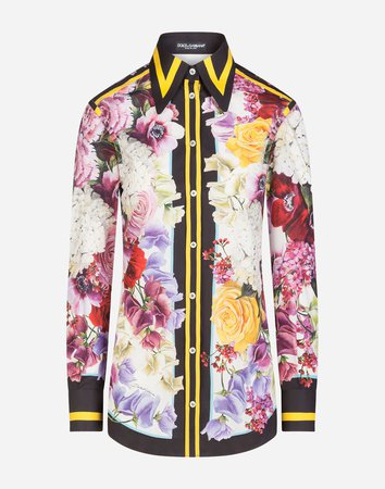 Women's Shirts and Tops | Dolce&Gabbana - PRINTED COTTON SHIRT