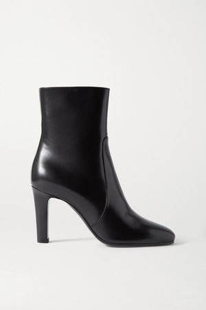 Blu Leather Ankle Boots - Black