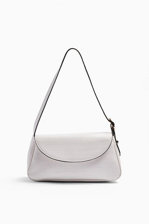 EVE White Buckle 90's Shoulder Bag | Topshop