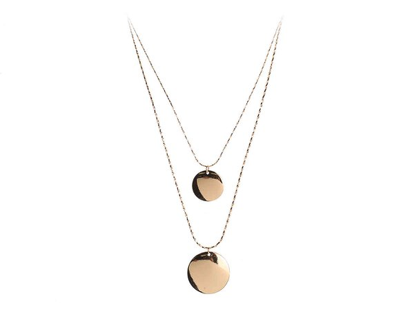 Kelly & Katie Double Pendant Layered Necklace Women's Handbags & Accessories | DSW