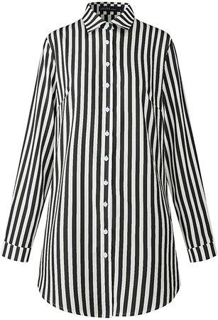 ZANZEA Women Blouses Tops Buffalo Check Plaid Long Sleeve Casual Button Down Shirts 287Light Blue 10 at Amazon Women's Clothing store