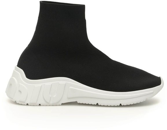 Miu Run Hi-top Sneakers
