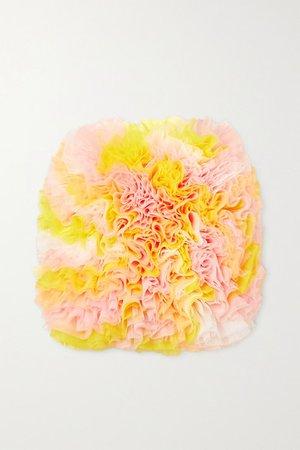 Tomo Koizumi X Emilio Pucci - Ruffled Tulle Skirt - Yellow