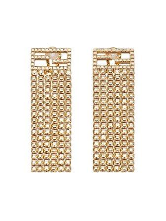 Fendi crystal embellished earrings - FARFETCH
