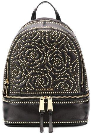 floral studded backpack