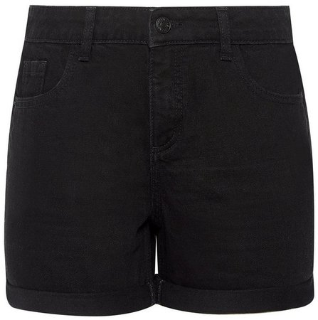 Black Denim Boyfriend Shorts