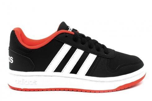 Adidas HOOPS 2 Black Orange White Kids Shoes B76067 - Yezshoes