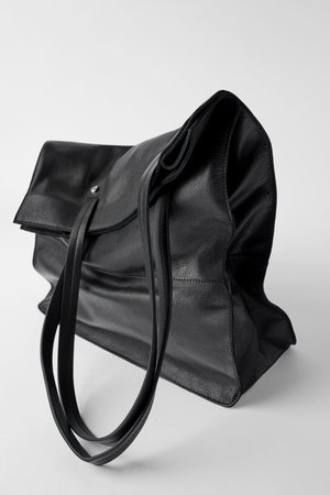 LEATHER TOTE - Black bags-BAGS-WOMAN | ZARA United States