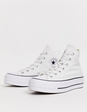 Converse Chuck Taylor Hi Lift Platform white sneakers | ASOS
