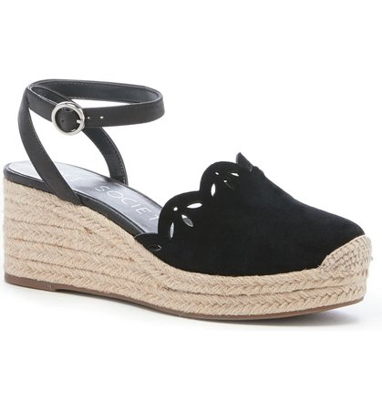 Sole Society Calysa Ankle Strap Espadrille Wedge (Women) | Nordstrom