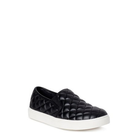 Time and Tru - Time and Tru Quilted Twin Gore Slip On (Women's) (Wide Width Available) - Walmart.com - Walmart.com black