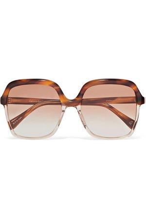 Kaleos | Clarke oversized square-frame tortoiseshell acetate sunglasses | NET-A-PORTER.COM