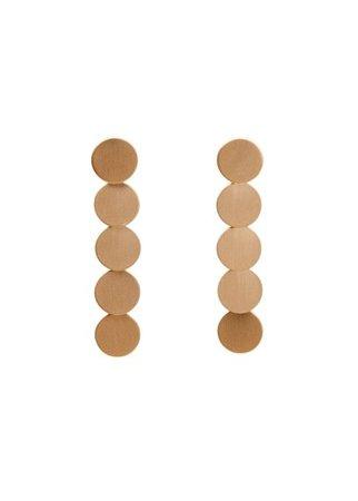 MANGO Metal pendant earrings