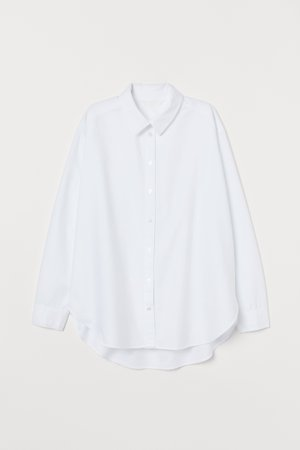 Cotton shirt - White -   H&M IN