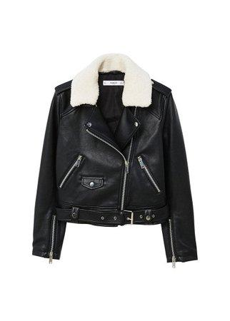 MANGO Faux shearling jacket
