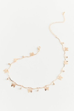 Bella Butterfly Charm Necklace   Urban Outfitters
