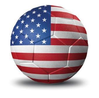 USA Soccer Ball Flag